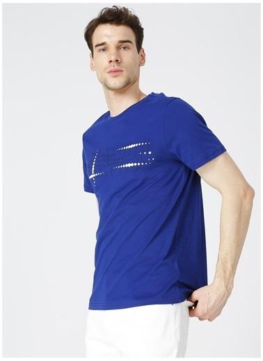 Fabrika Sports Fabrika Sports Merson Saks Bisiklet Yaka Erkek T-Shirt Saks